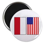 Indonesian & US Flags Magnet