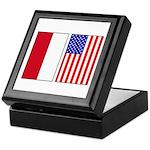 Indonesian & US Flags Keepsake Box