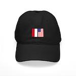 Indonesian & US Flags Black Cap