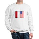 Indonesian & US Flags Sweatshirt