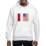 Indonesian & US Flags Hooded Sweatshirt