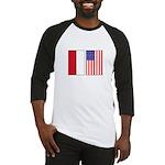 Indonesian & US Flags Baseball Jersey