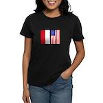 Indonesian & US Flags Women's Dark T-Shirt