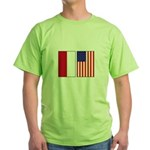 Indonesian & US Flags Green T-Shirt
