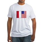 Indonesian & US Flags Fitted T-Shirt