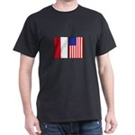 Indonesian & US Flags Dark T-Shirt