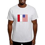Indonesian & US Flags Light T-Shirt