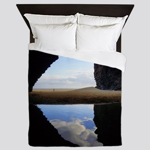 Kalalau Beach Cave Queen Duvet