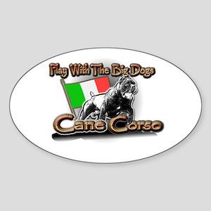 Play Cane Corso Oval Sticker