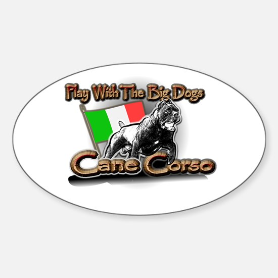 Play Cane Corso Oval Decal