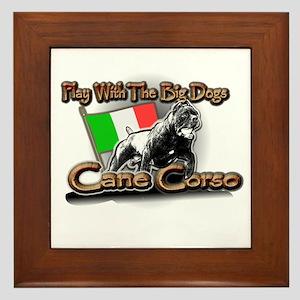 Play Cane Corso Framed Tile