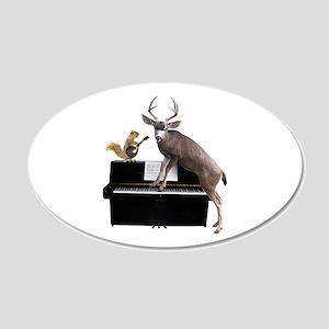 Deer Piano Wall Decal