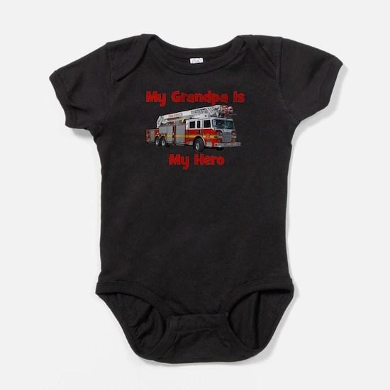 Cute Fire engine Baby Bodysuit
