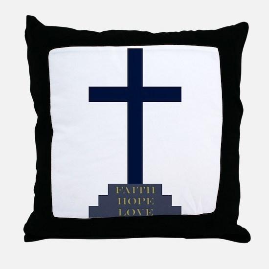 Calvary Cross Throw Pillow