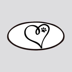 Pawprint on my heart Patch