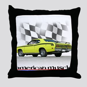 Duster Muscle Throw Pillow