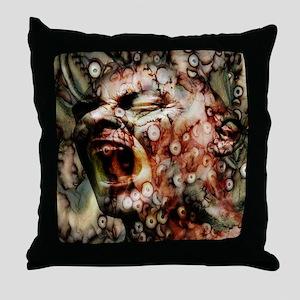 Horror Head Throw Pillow