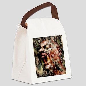 Horror Head Canvas Lunch Bag