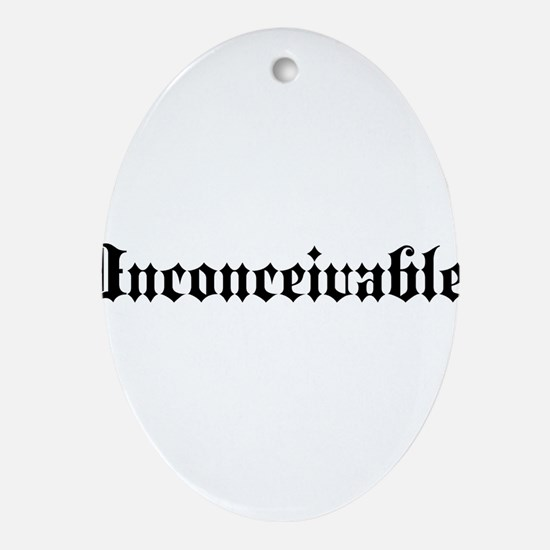 Cute Inconceivable Oval Ornament