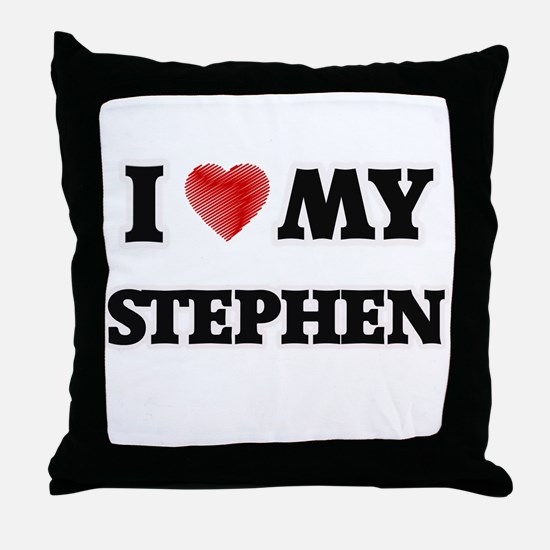 I love my Stephen Throw Pillow
