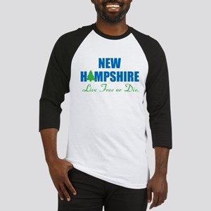 NEW HAMPSHIRE - LIVE FREE OR DIE Baseball Jersey