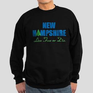 NEW HAMPSHIRE - LIVE FREE OR DIE Sweatshirt (dark)