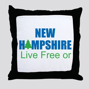 NEW HAMPSHIRE - LIVE FREE OR DIE Throw Pillow