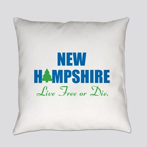 NEW HAMPSHIRE - LIVE FREE OR DIE Everyday Pillow
