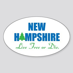 NEW HAMPSHIRE - LIVE FREE OR DIE Sticker (Oval)