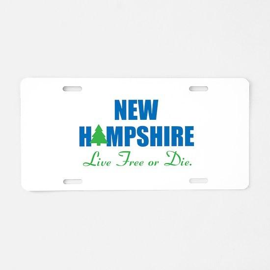 NEW HAMPSHIRE - LIVE FREE O Aluminum License Plate