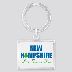NEW HAMPSHIRE - LIVE FREE OR DI Landscape Keychain