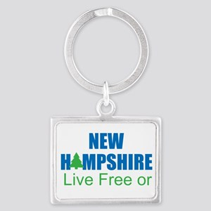 NEW HAMPSHIRE - LIVE FREE OR DI Landscape Keychain