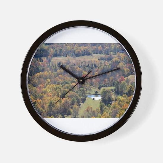 Shenandoah National Park during Fall. Wall Clock