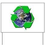 Earth Day Recycle Yard Sign