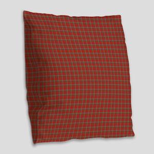 Robertson Weathered Tartan Burlap Throw Pillow