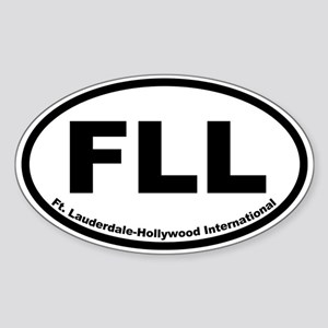 Fort Lauderdale-Hollywood Airport Oval Sticker