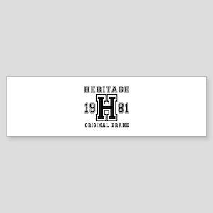 Heritage 1981 Original Brand Birt Sticker (Bumper)