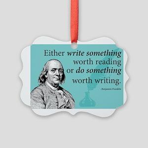 Ben Franklin Picture Ornament