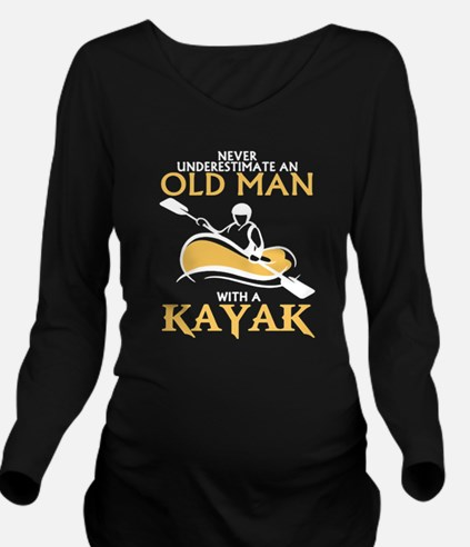OLD MAN WITH A KAYAK Long Sleeve Maternity T-Shirt