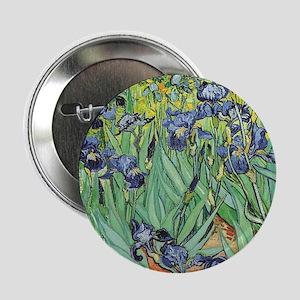 "Irises by Van Gogh 2.25"" Button"