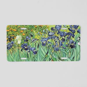 Irises by Van Gogh Aluminum License Plate