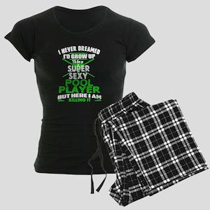 Sexy Pool Player Women's Dark Pajamas