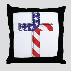 Freedom Cross Throw Pillow