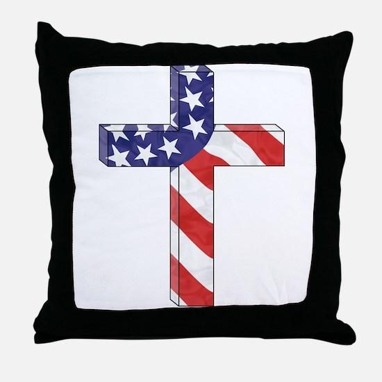 Freedom Cross Throw Pillow