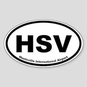 Huntsville International Airport Oval Sticker