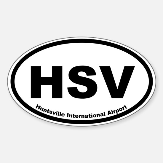 Huntsville International Airport Oval Decal