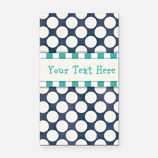 Personalized -Blue Patterned* Rectangle Car Magnet