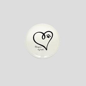 Always in my Heart Mini Button