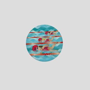 Little Swimmer Girls Mini Button