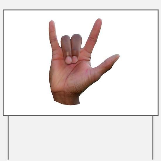 I Love You ILY Hand Yard Sign
